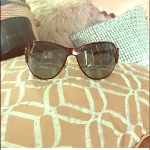 Gucci Plum metallic plum sunglasses